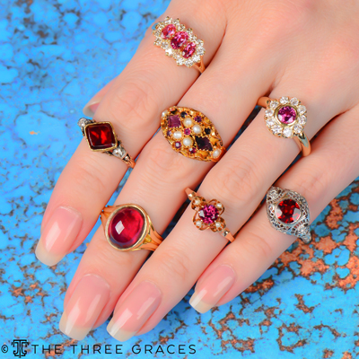 Antique & Estate Garnet Rings